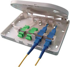 Boîtiers FTTx 4 ports pour traversées de cloison SC simplex / LC duplex - Platine Réseaux
